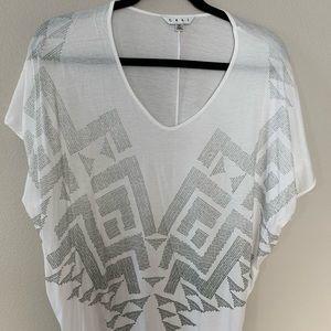 White sparkly t-shirt